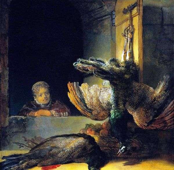 Натюрморт с павлином   Рембрандт Харменс Ван Рейн