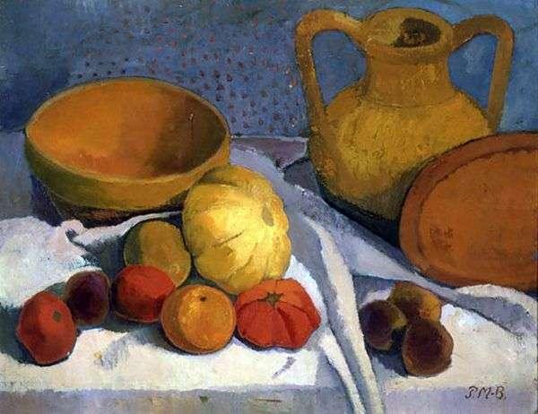 Натюрморт с желтым шаром и глиняным кувшином   Паула Модерзон Беккер