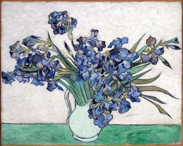 Натюрморт: ваза с ирисами   Винсент Ван Гог