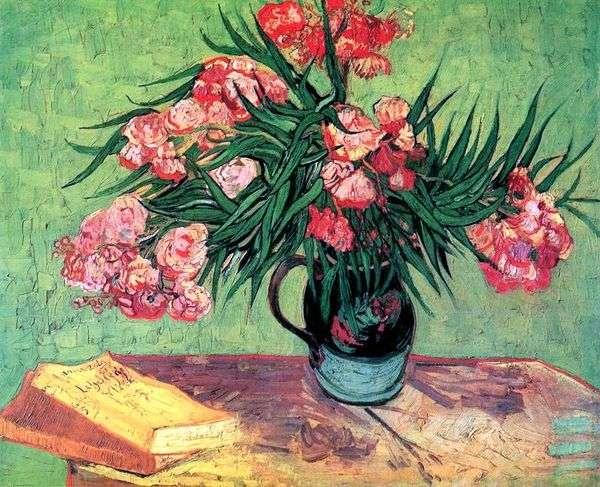 Натюрморт: ваза с олеандрами и книгами   Винсент Ван Гог