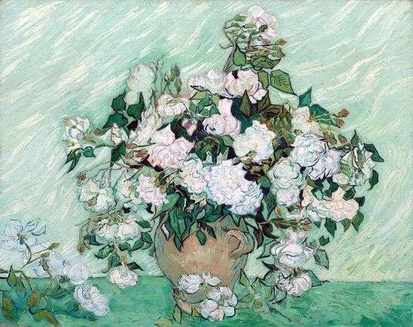 Натюрморт: ваза с розами   Винсент Ван Гог