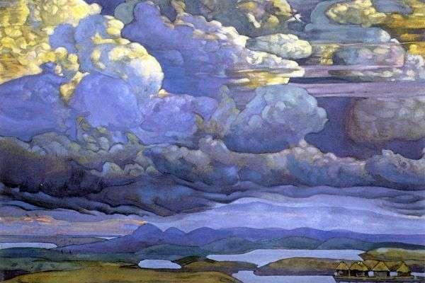 Небесный бой   Николай Рерих