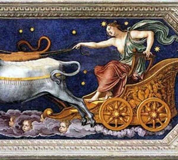 Нимфа Каллисто на колеснице Юпитера   Бальдассаре Перуцци