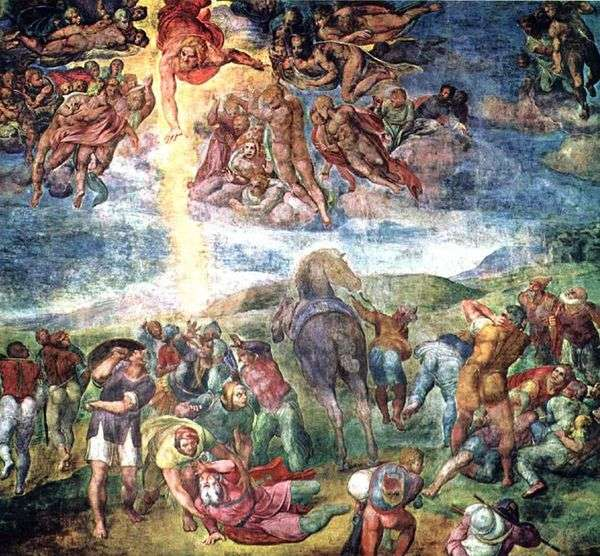 Обращение апостола Павла   Микеланджело Буонарроти