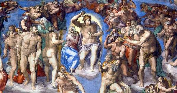 Образ Христа на фреске Страшный Суд   Микеланджело Буонарроти