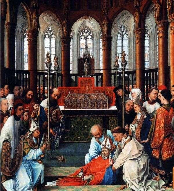 Обретение мощей Святого Губерта   Рогир ван дер Вейден