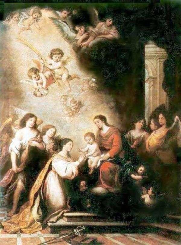 Обручение св. Екатерины   Бартоломео Эстебан Мурильо