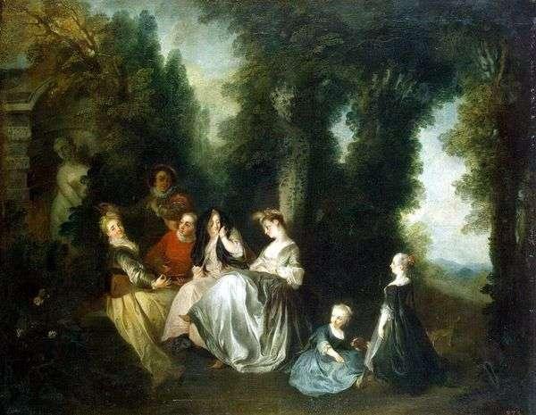 Общество в саду   Никола Ланкре