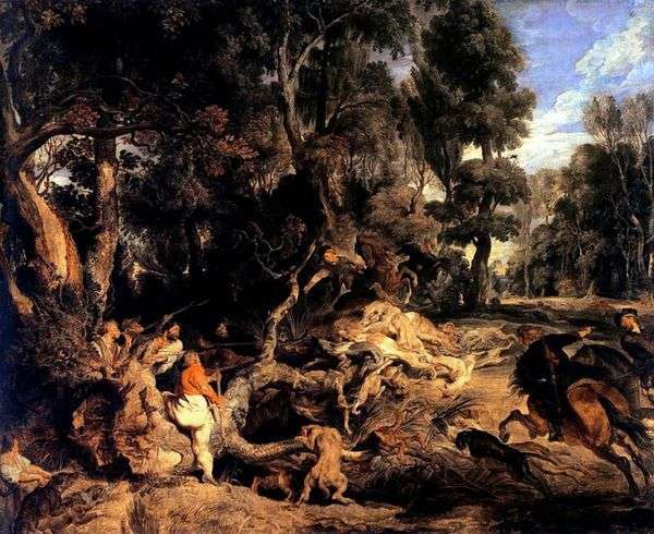 Охота на кабана   Питер Рубенс