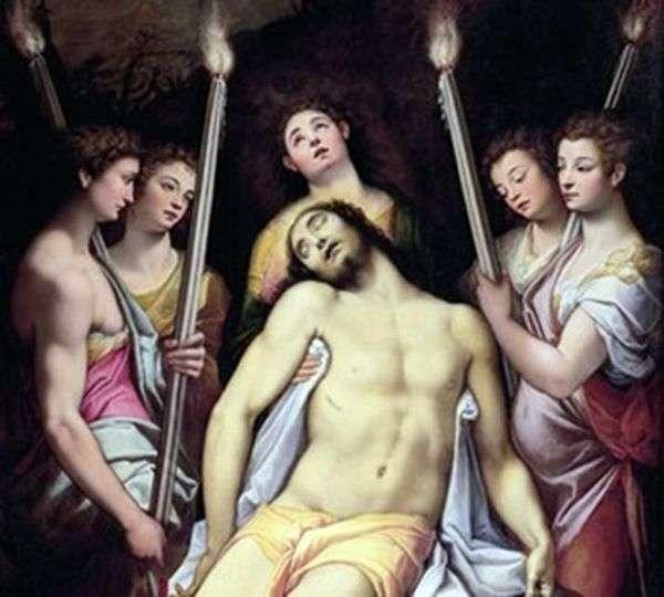 Оплакивание Христа ангелами   Федерико Дзуккари