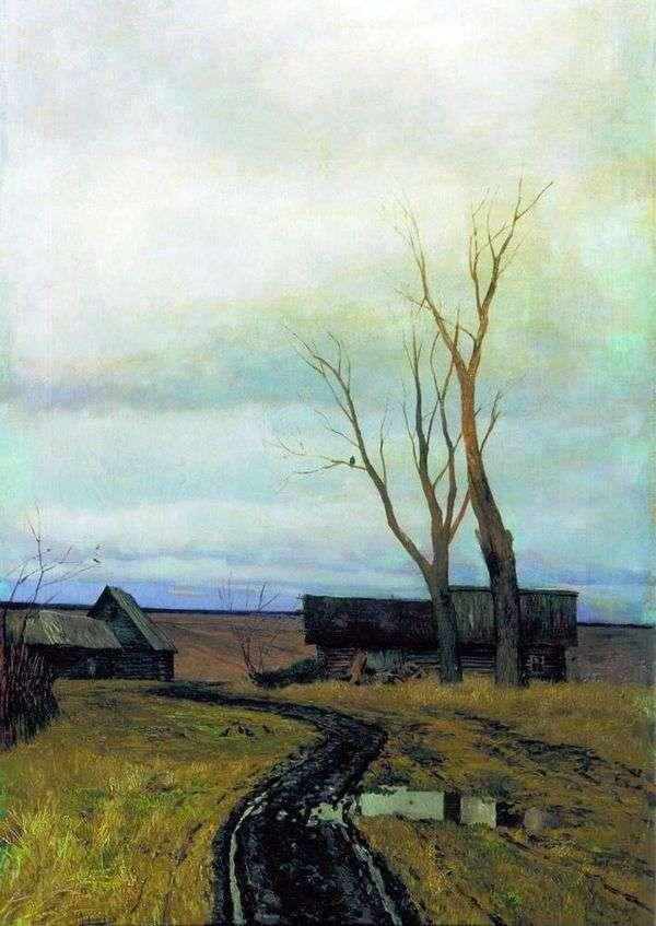 Осень. Дорога в деревне   Исаак Левитан