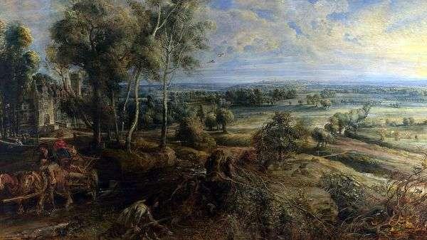 Осенний пейзаж с видом на Хеш Стен   Питер Рубенс