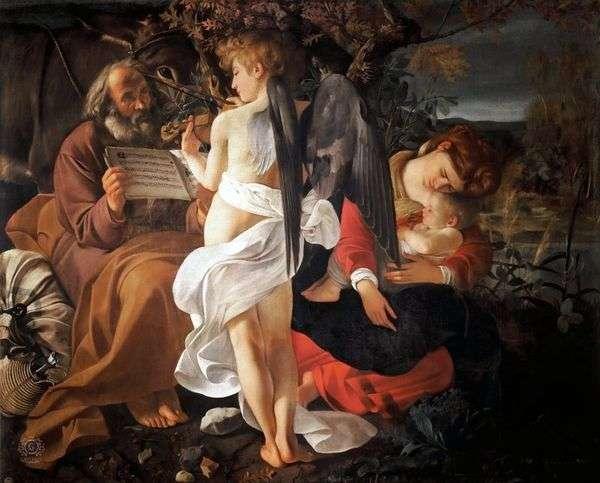 Отдых на пути в Египет   Микеланджело Меризи да Караваджо