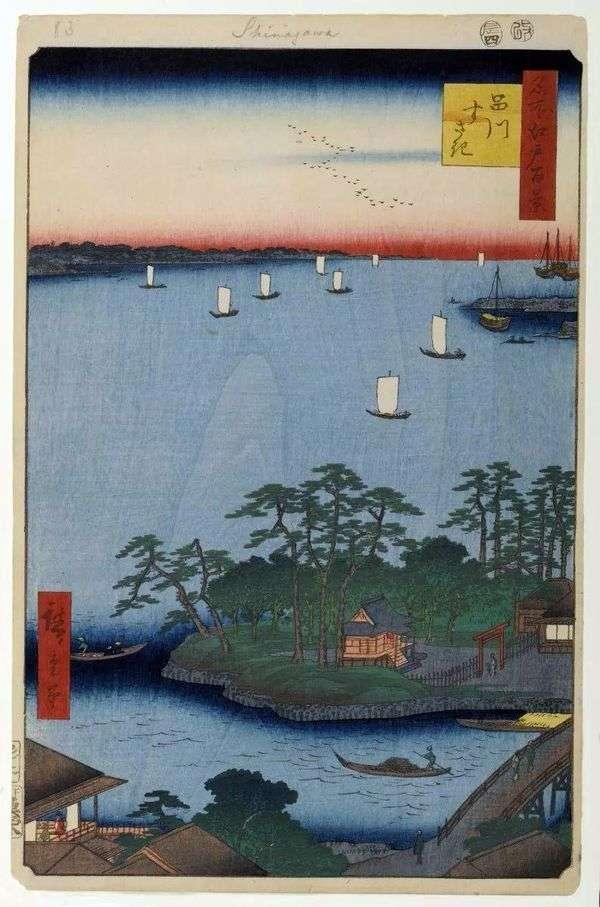 Отмель в Сусаки   Утагава Хиросигэ