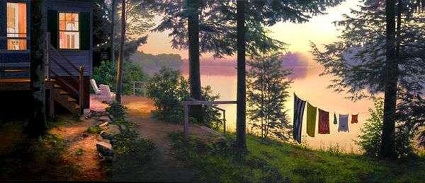 Озеро в сумерках   Скотт Прайор