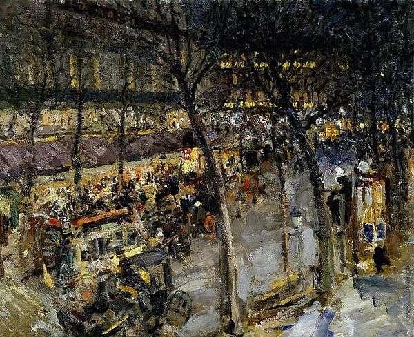 Париж. Кафе де ля Пэ   Константин Коровин