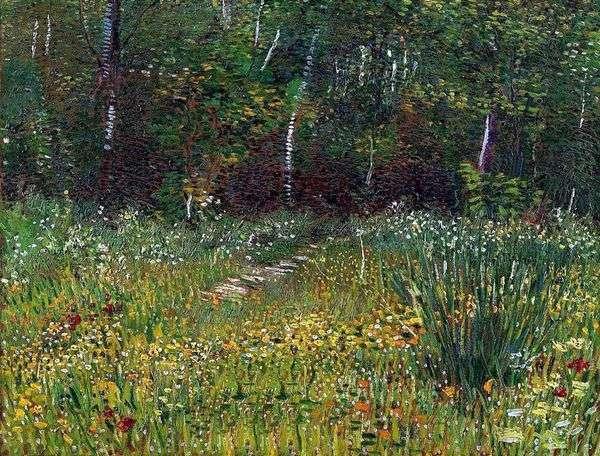 Парк в Аньере весной   Винсент Ван Гог