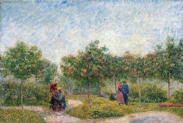 Пары в парке дАржансон в Аньере   Винсент Ван Гог
