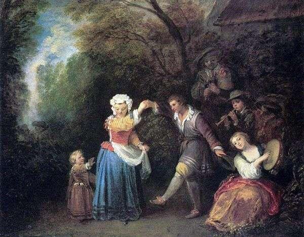 Пасторальные танцы   Жан Антуан Ватто
