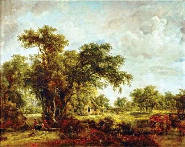 Пейзаж с фермой   Мейндерт Хоббема