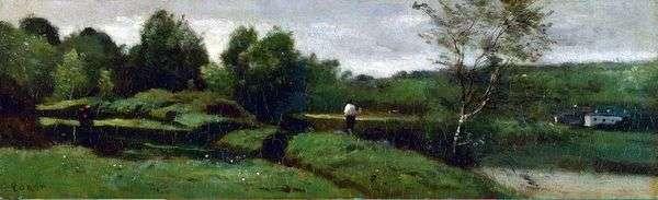 Пейзаж с мальчиком в белой рубашке   Камиль Коро