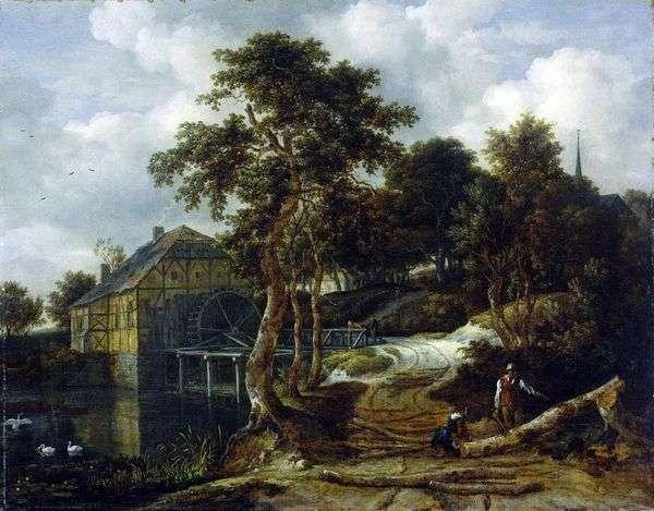 Пейзаж с мельницей   Якоб ван Рейсдал