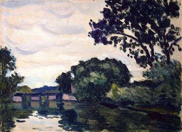 Пейзаж с мостом   Альбер Марке
