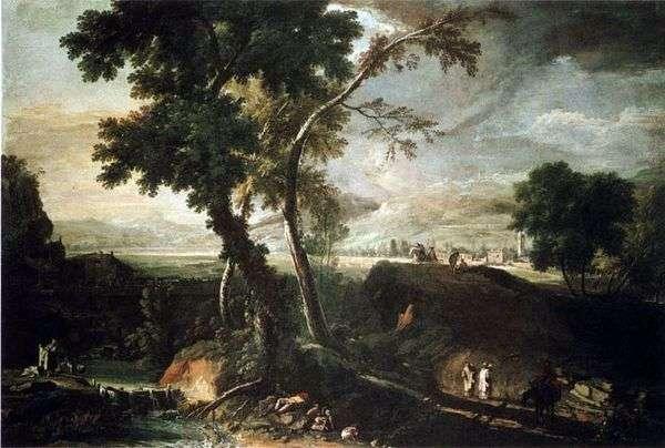 Пейзаж с потоком   Марко Риччи