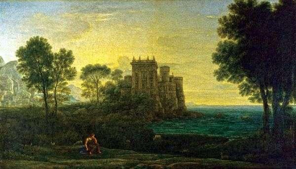 Пейзаж с Психеей на фоне дворца Купидона   Клод Лоррен
