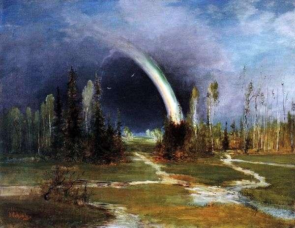 Пейзаж с радугой   Саврасов