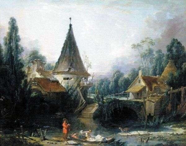 Пейзаж в окрестностях Бовэ   Франсуа Буше