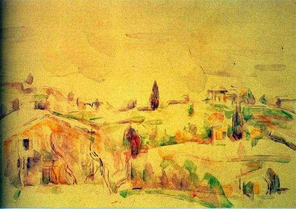 Пейзаж в Провансе   Поль Сезанн