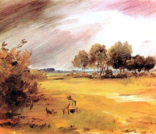 Пейзаж во время дождя   Вильгельм Буш