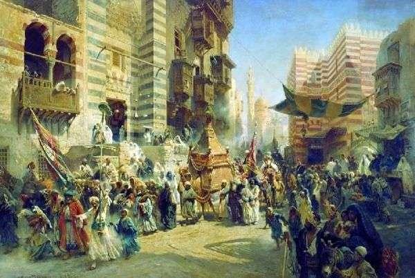 Перенесение священного ковра в Каире   Константин Егорович Маковский