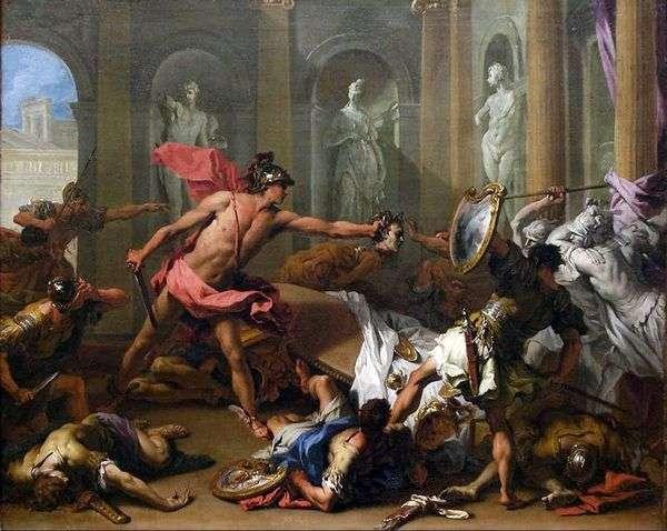 Персей обращает Финея в камень   Себастьяно Риччи