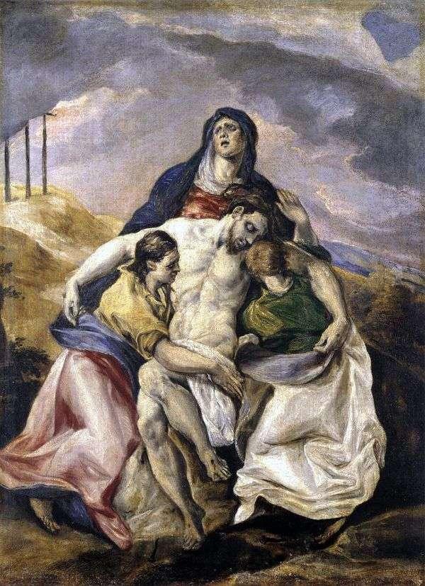 Пьета, или Оплакивание Христа   Эль Греко