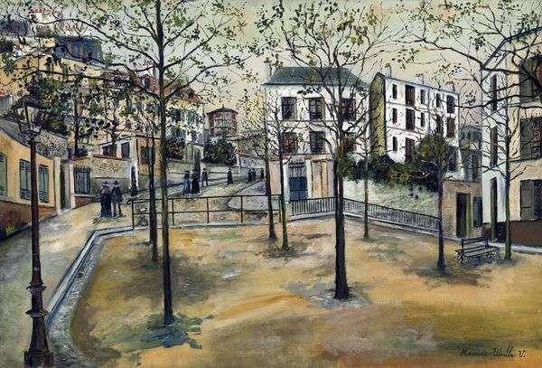 Площадь Равиньян   Морис Утрилло