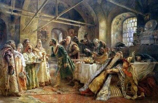 Поцелуйный обряд (Пир у боярина Морозова)   Константин Маковский