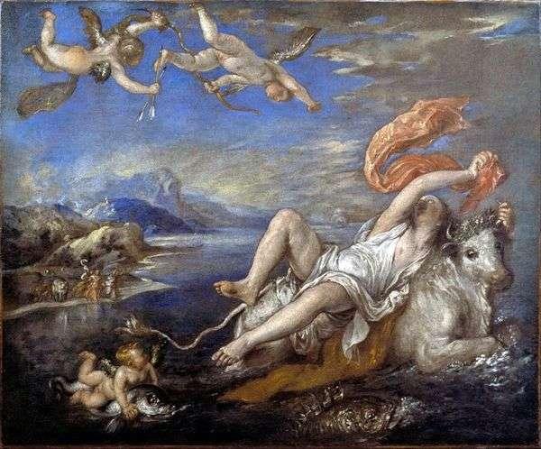 Похищение Европы   Тициан Вечеллио