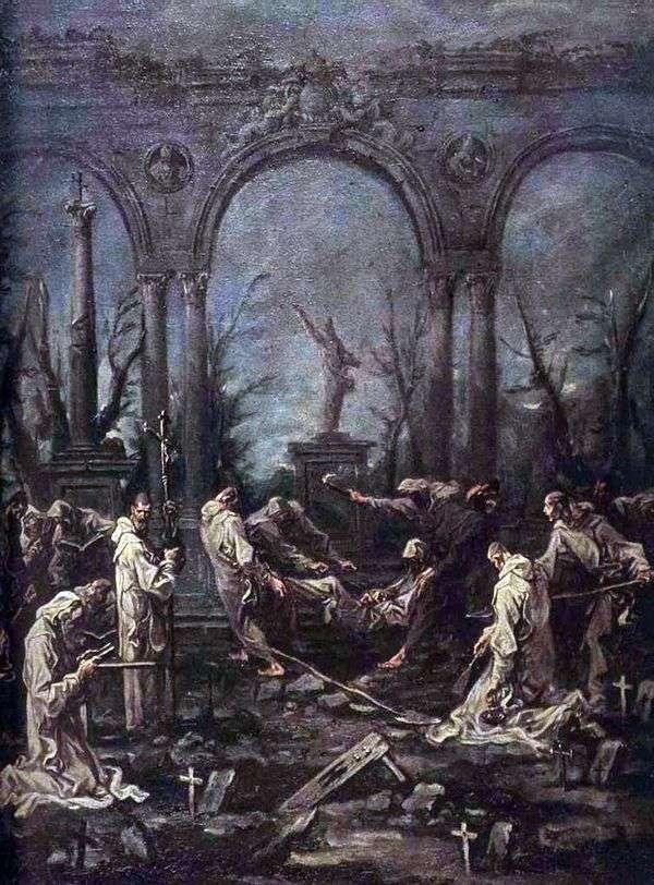 Похороны монаха   Алессандро Маньяско