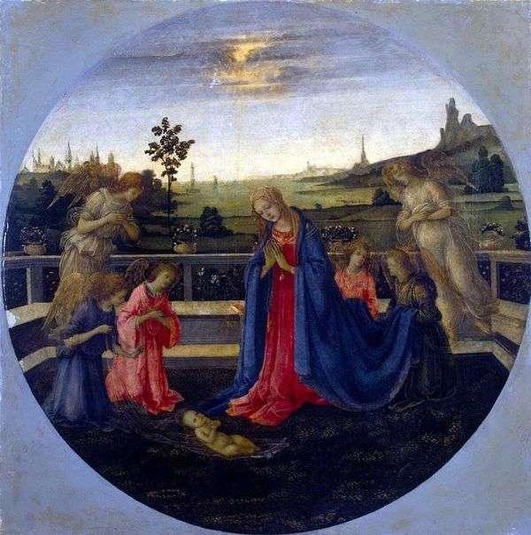 Поклонение младенцу Христу   Филиппино Липпи