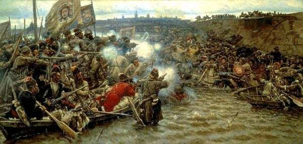 Покорение Сибири Ермаком   Василий Суриков