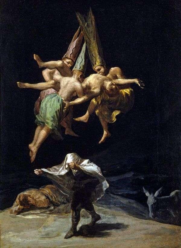 Полет ведьм   Франсиско де Гойя