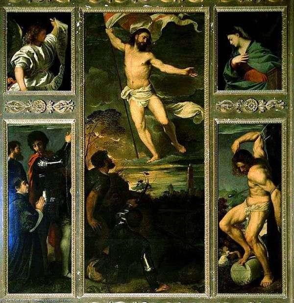 Полиптих Воскресение   Тициан Вечеллио