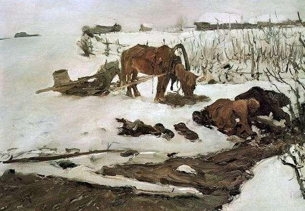 Полосканье белья (На речке)   Валентин Серов
