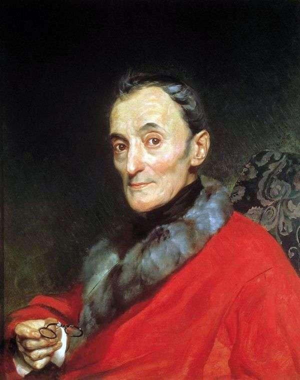 Портрет археолога Микеланджело Ланчи   Карл Брюллов