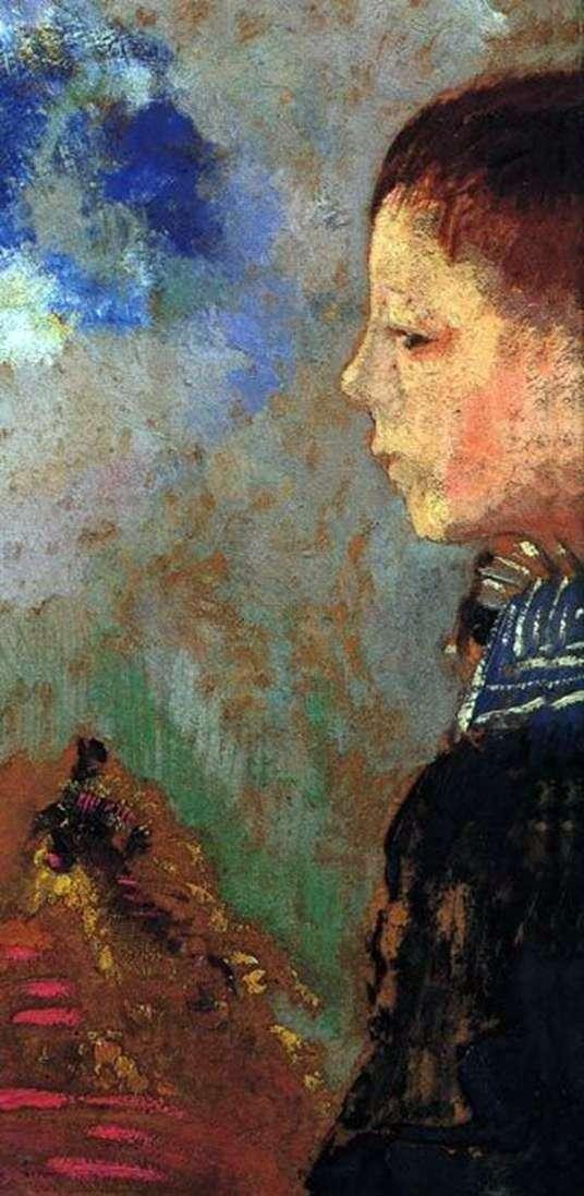 Портрет Ари с синим воротником   Одилон Редон