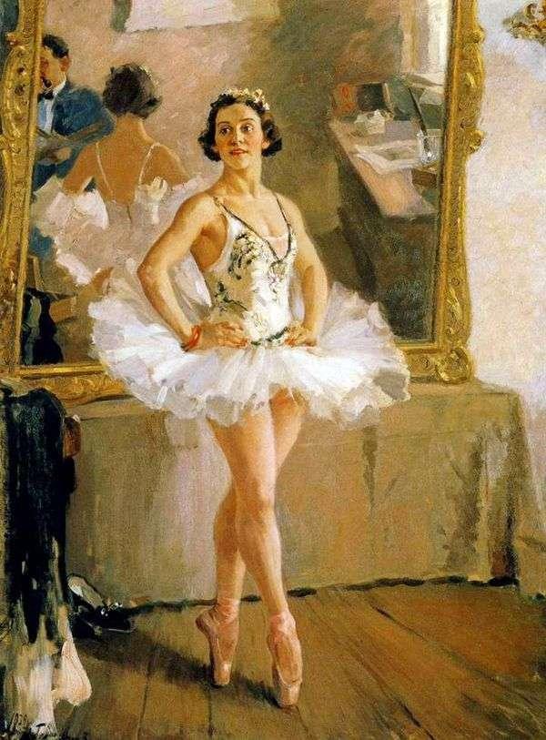 Портрет балерины О. В. Лепешинской   Александр Герасимов