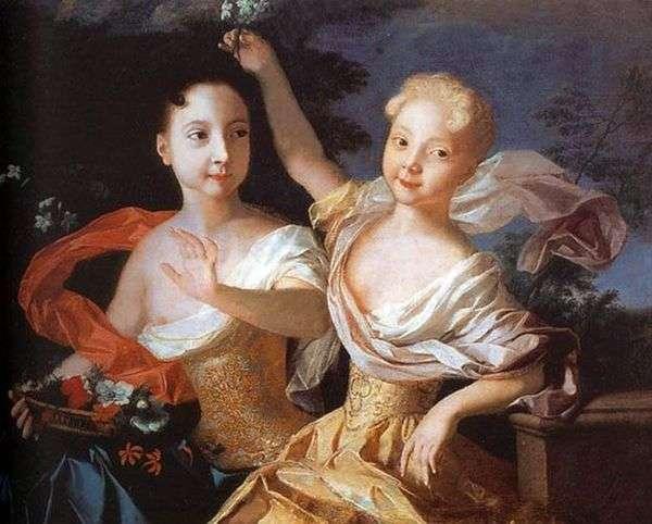 Портрет царевен Анны Петровны и Елизаветы Петровны   Луи Каравакк