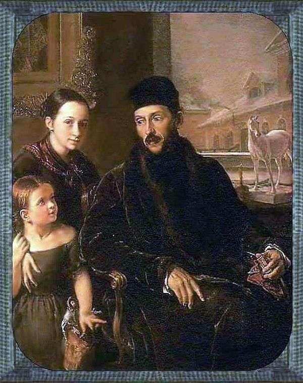 Портрет Д. П. Воейкова с дочерью и гувернанткой мисс Сорок   Василий Тропинин